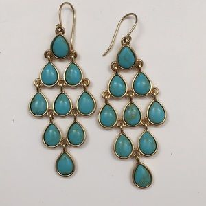Kenneth Cole Turquoise and Gold Tone Earrings
